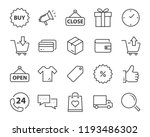 set of shopping line icons such ... | Shutterstock .eps vector #1193486302