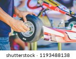 the mechanic hand go kart... | Shutterstock . vector #1193488138