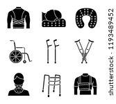 trauma treatment glyph icons... | Shutterstock .eps vector #1193489452