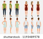 vector illustration of men and... | Shutterstock .eps vector #1193489578
