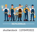 repairman set people teamwork ... | Shutterstock .eps vector #1193493322