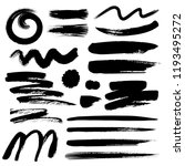set of brush stroke  black ink... | Shutterstock .eps vector #1193495272