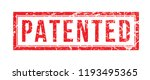 stamp patented red color | Shutterstock .eps vector #1193495365