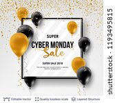 cyber monday sale background... | Shutterstock .eps vector #1193495815