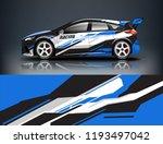 car wrap design. livery design... | Shutterstock .eps vector #1193497042