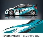 car wrap design. livery design...   Shutterstock .eps vector #1193497102