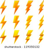 lightning icon set | Shutterstock .eps vector #119350132