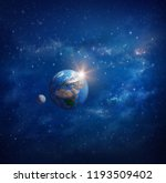 planet earth in outer space ... | Shutterstock . vector #1193509402