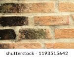 old brick background at... | Shutterstock . vector #1193515642