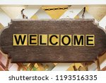 symbolize welcome on background | Shutterstock . vector #1193516335