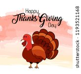 happy thanksgiving day text... | Shutterstock .eps vector #1193521168