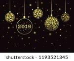 vector new year background 2019.... | Shutterstock .eps vector #1193521345