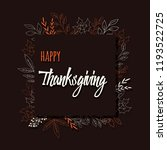 happy thanksgiving day card... | Shutterstock .eps vector #1193522725