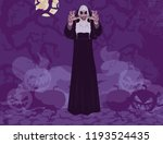 nun halloween thematic abstract ... | Shutterstock .eps vector #1193524435