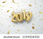 happy new 2019 year. holiday... | Shutterstock .eps vector #1193526532