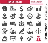 investment icons. professional  ... | Shutterstock .eps vector #1193530312