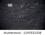 brands working with online... | Shutterstock . vector #1193531338