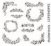 floral hand drawn frames and... | Shutterstock .eps vector #1193540992