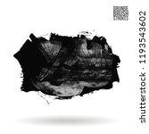 grey  brush stroke and texture. ... | Shutterstock .eps vector #1193543602