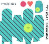 present box with diagonal lines | Shutterstock .eps vector #119354662