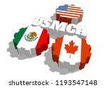 acronym usmca   united states... | Shutterstock . vector #1193547148