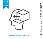 thinking outside the box icon | Shutterstock .eps vector #1193552842