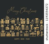 merry christmas and happy new... | Shutterstock .eps vector #1193554372