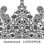 seamless paisley traditional... | Shutterstock . vector #1193559928