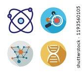 molecular icon set. vector set...   Shutterstock .eps vector #1193560105