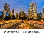los angeles downtown sunset  la ... | Shutterstock . vector #1193565088