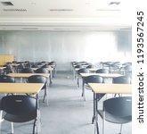 empty classroom  retro style   Shutterstock . vector #1193567245