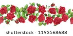 flowers seamless border... | Shutterstock .eps vector #1193568688