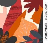 autumn design with abstract... | Shutterstock .eps vector #1193570035