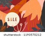 autumn design with abstract... | Shutterstock .eps vector #1193570212