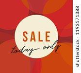 autumn sale design with round... | Shutterstock .eps vector #1193571388