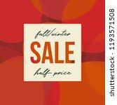 autumn sale design with round... | Shutterstock .eps vector #1193571508