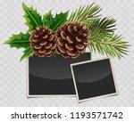 vector branch of christmas tree ... | Shutterstock .eps vector #1193571742