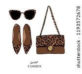 set of fashion women's...   Shutterstock .eps vector #1193572678