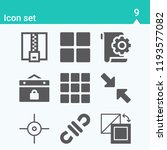 contains such icons as grid ...   Shutterstock .eps vector #1193577082
