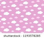 cute clouds pattern. endless...   Shutterstock .eps vector #1193578285
