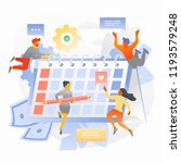 business team is planning a... | Shutterstock .eps vector #1193579248