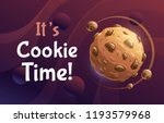 it's cookie time. vector... | Shutterstock .eps vector #1193579968