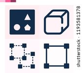 contains such icons as cube ... | Shutterstock .eps vector #1193581378