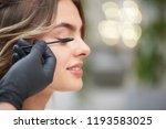 closeup of process of doing...   Shutterstock . vector #1193583025