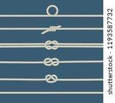 rope knots. decorative elements.... | Shutterstock .eps vector #1193587732