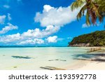 view of the sandy beach ... | Shutterstock . vector #1193592778