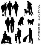 collection of silhouettes of... | Shutterstock .eps vector #119359702