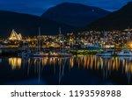 night view of marina in tromso... | Shutterstock . vector #1193598988