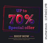 up to 70 percent sale... | Shutterstock .eps vector #1193602198