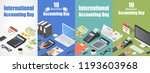 accounting day banner set.... | Shutterstock .eps vector #1193603968